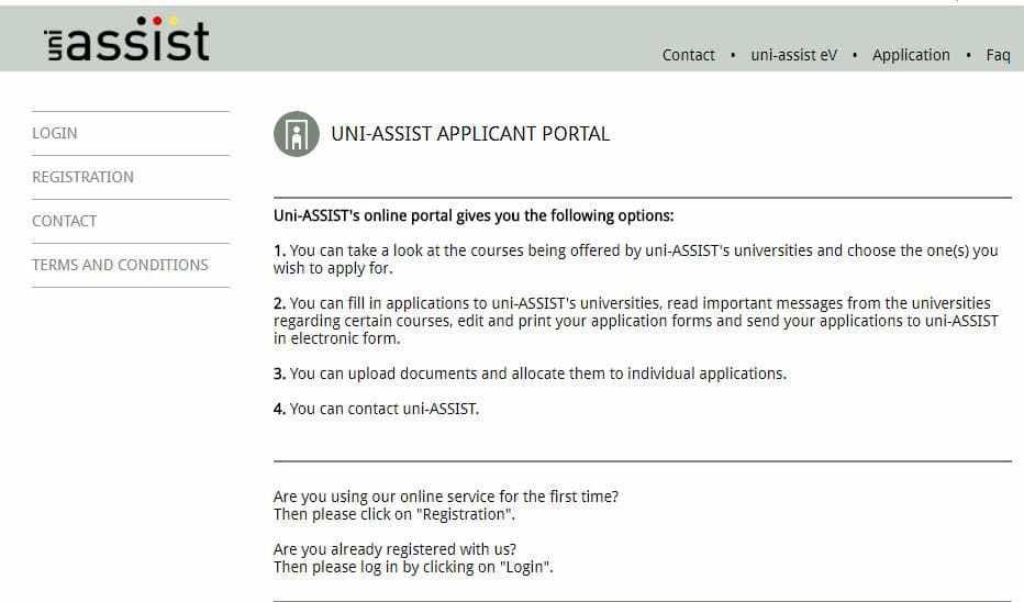 Uni Assist Online